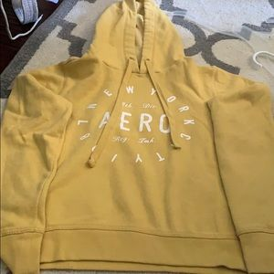 Yellow Aeropostale hoodie